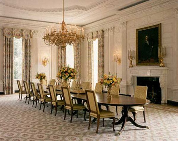 white house dining room | 398 best images about The White House on Pinterest | White ...