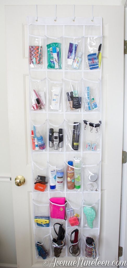 Use one Amber already has to store all of our toiletries so we don't crowd the bathroom counters!!