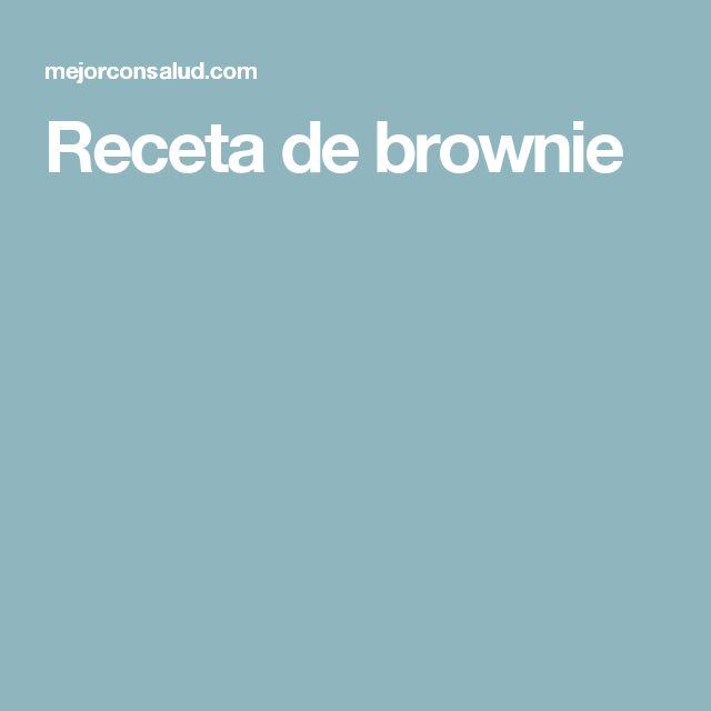 Receta de brownie