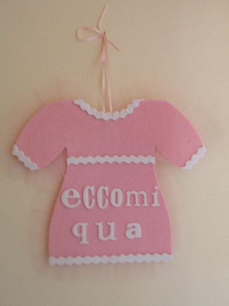 Coccarda nascita a forma di vestito bimba https://www.facebook.com/IL-Pensiero-Creazioni-Artigianali-308024965911130/?ref=bookmarks