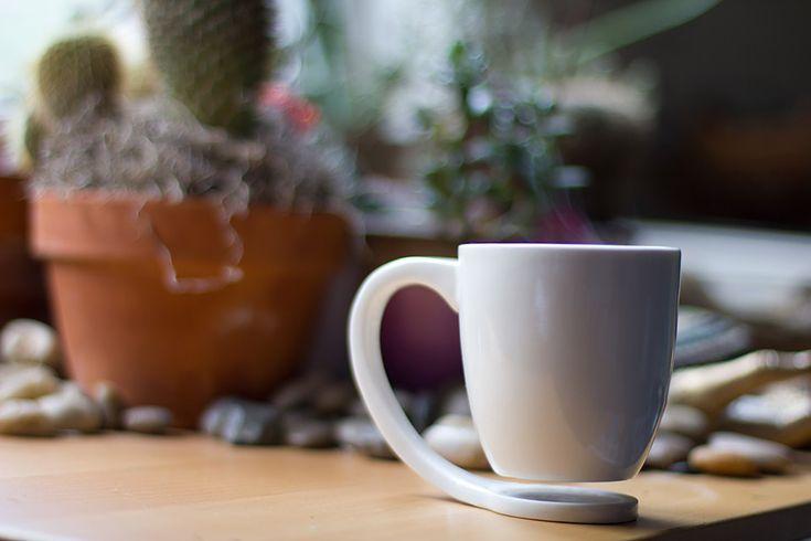 "Very cool design ""Floating Mug"" can be funded through Kickstarter #tea"