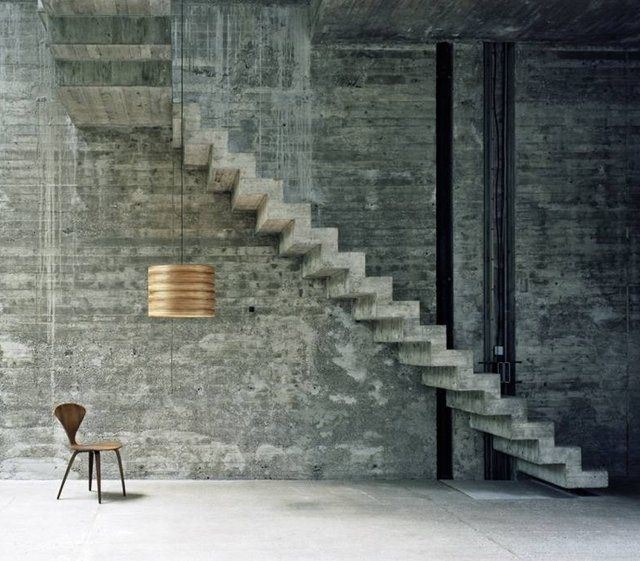 Floating concrete Stairs wall texture Inspirational