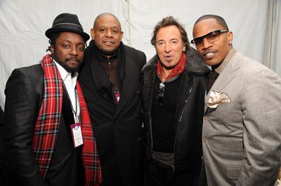 will.i.am + Forest Whitaker + Bruce Springsteen + Jamie Foxx