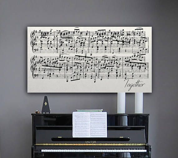 This is a unique sheet music canvas that includes 2 sheet music stanzas, the title of the song and the lyrics of the song. This is personalized to your liking (color, size, design). This can make a great anniversary gift or just a great addition to your home decor. **Choose your own song**