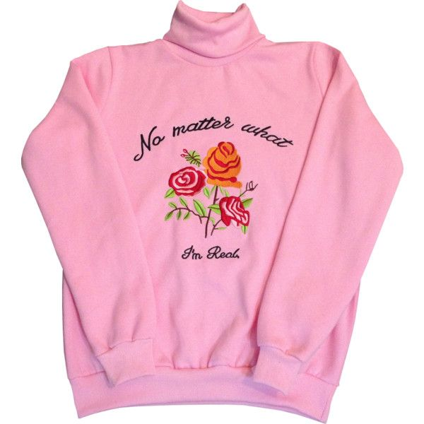 NO MATTER WHAT SWEATER ($25) ❤ liked on Polyvore featuring tops, sweaters, long sleeves, pink, pink sweater, long sleeve sweaters, pink top, long sleeve tops and pink long sleeve top