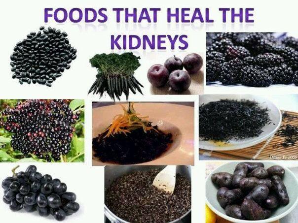Powerful Health Info : Did You Know: Foods that heal the kidneys are purple plums, purple potatoes, black quinoa, blackberries, black carrots (purple carrots), hijiki (potent seaweed), black seawee...