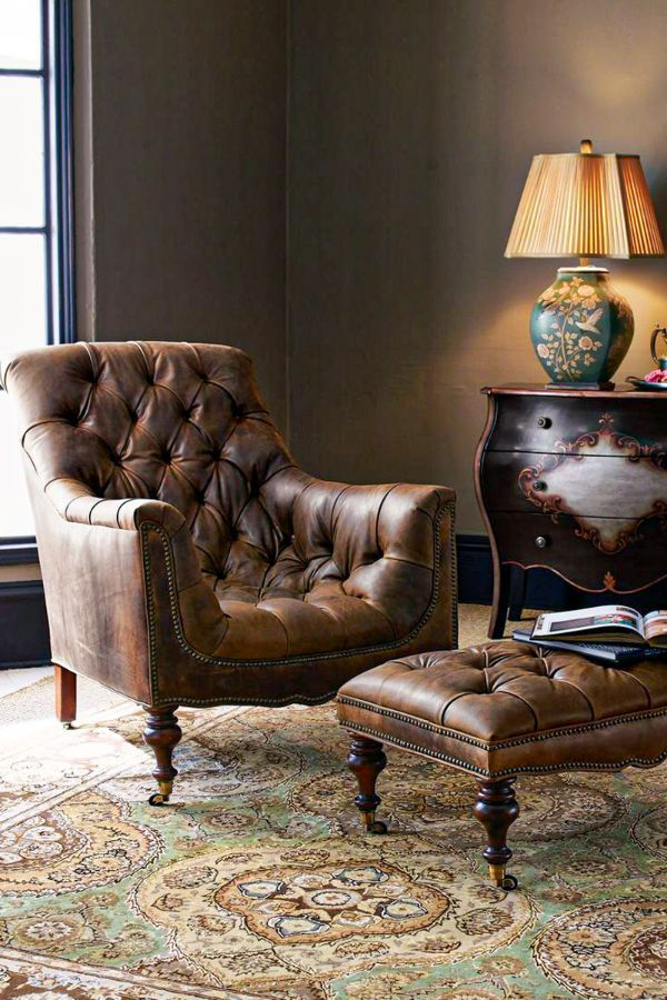 51 Best Living Room Chairs Furniture Design Ideas For 2020 Page 23 Of 51 Womensays Com Women Blog In 2020 Tufted Leather Chair Living Room Furniture Vintage Living Room