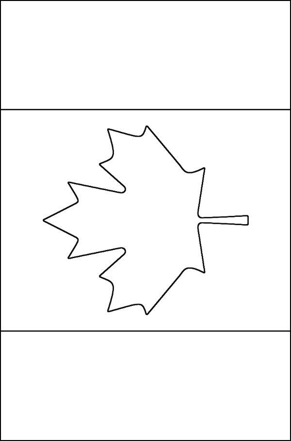 Canadian flag coloring page - Free Printable Coloring Pages ... perfect for young visitors to Galiano Island