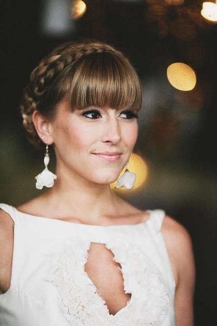 Wedding Hairstyles With Braids And Bangs : 968 best peinados para novia hair dos bride wedding images on