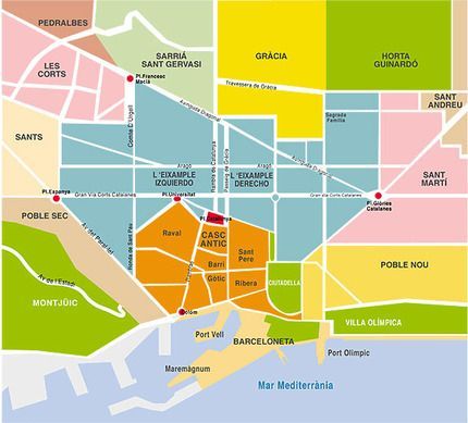 Best Historical Maps Of Catalonia Images On Pinterest - Barcelona map eixample district