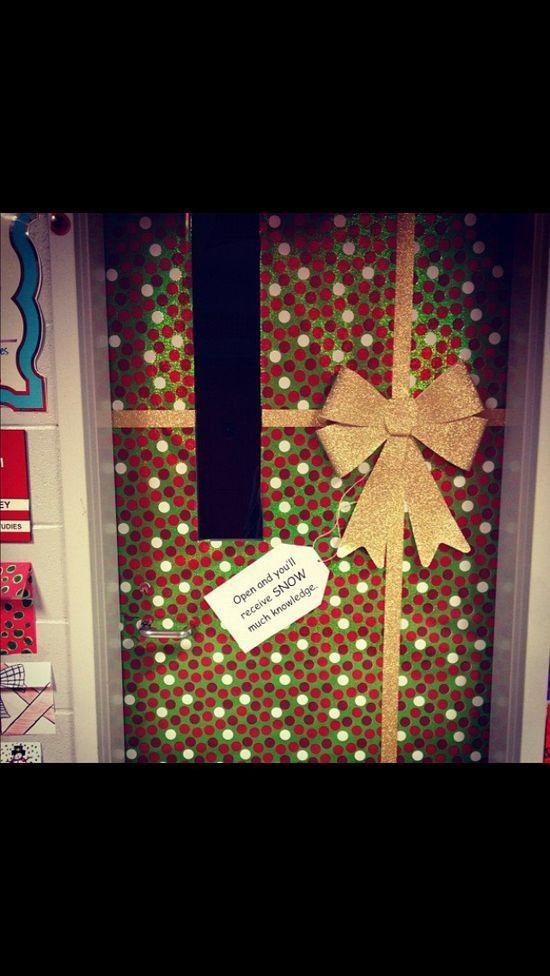 Classroom Wall Decoration For Preschool ~ December classroom door decoration idea school ideas