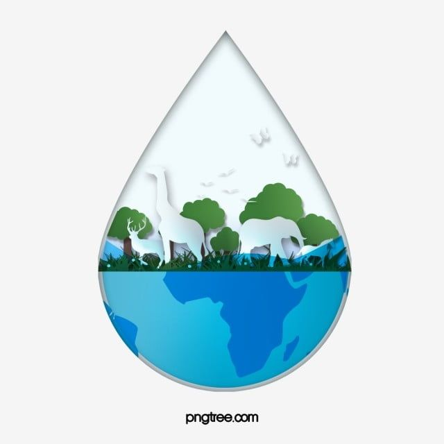 Water Element For World Water Day Festival Tree Water Put Up Png Transparent Clipart Image And Psd File For Free Download World Water Day World Water Water Day