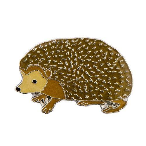 3€ (ledenprijs 2.70€) - Natuurpunt.be - Pin Egel / Hedgehog metal pin brooch