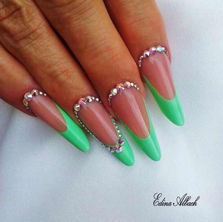 Neon green, Nails, unhas de acrílico, acrylic nails, gel nails, nail art