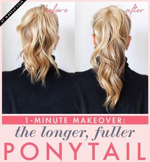 Fuller Ponytail Hair Idea