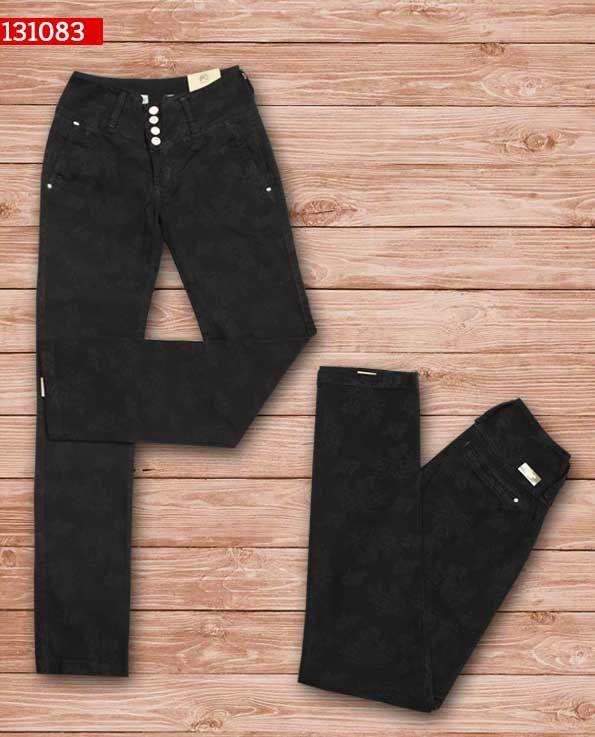 Pantalon-dama-color negro-bota-recta-ref-131083- #fashion #women #ropademoda
