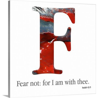 """Canvas On Demand 'Bible Verse Alphabet - F' by Mark Lawrence Textual Art on Canvas Size: 24"""" H x 24"""" W x 1.25"""" D"""
