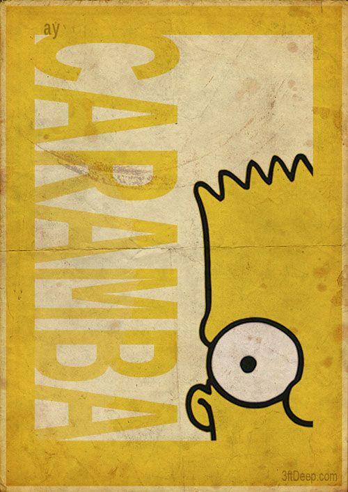 Bart Simpson - Vintage style poster- 3ftdeep by 3ftDeep.deviantart.com on @DeviantArt