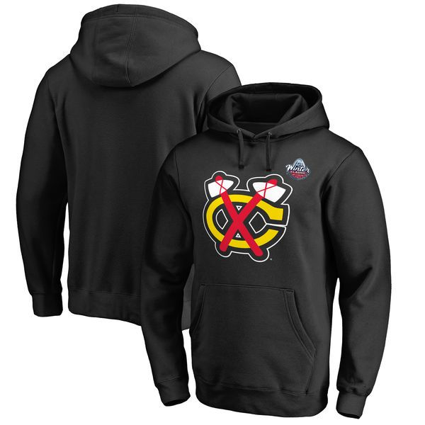 Chicago Blackhawks 2017 NHL Winter Classic C Logo Big & Tall Pullover Hoodie - Black - $64.99