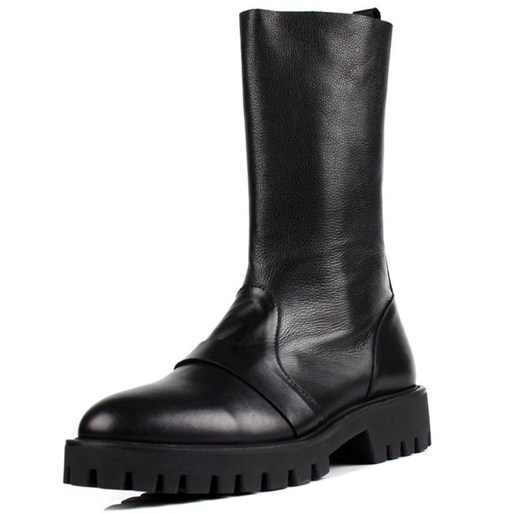 164.53$  Buy now - http://ali30q.worldwells.pw/go.php?t=32787182392 - Discount Spring Men's Knight Boots Sale Genuine Leather 30CM Knee High Boots Designer Black Handmade Martin boots For Men