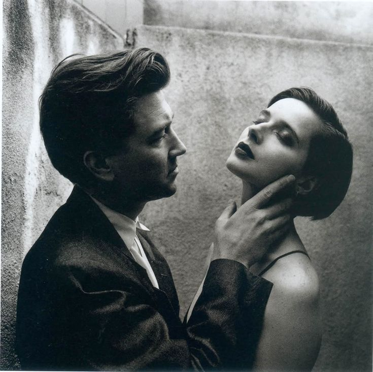 Helmut Newton, David Lynch e Isabela Rosselini (1992)