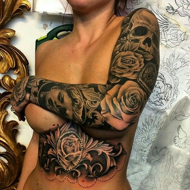 Beautiful torso & arm sleeve Artist @archiebaldcook