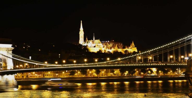 St Matthias church by night, Budapest