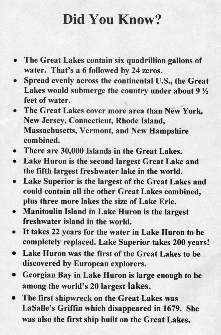 Facts about the Great Lakes  located in northeastern North America, on the Canada–United States border, which connect to the Atlantic Ocean through the Saint Lawrence Seaway.