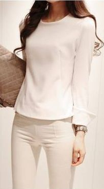 Swallow-Tailed, Chiffon Blouse.