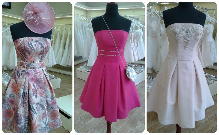 #suknie wizytowe #krótkie #kolor #kieszenie #pink #kwiaty www.fularazywczyk.pl