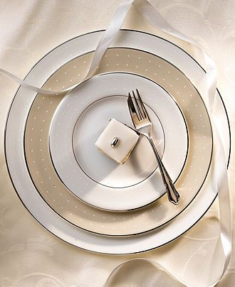 Monique Lhuillier Waterford Dinnerware, Etoile Platinum Collection - Fine China - Dining & Entertaining - Macy's