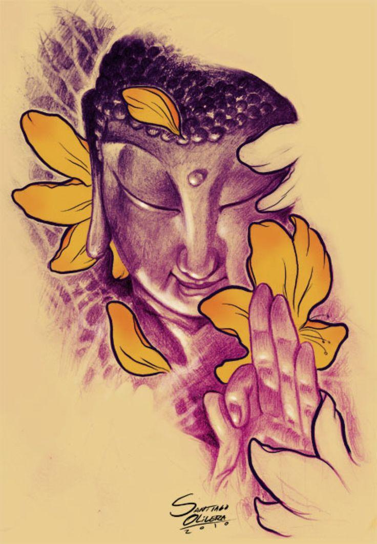 Buddha by auramante on DeviantArt Bouddha dessin