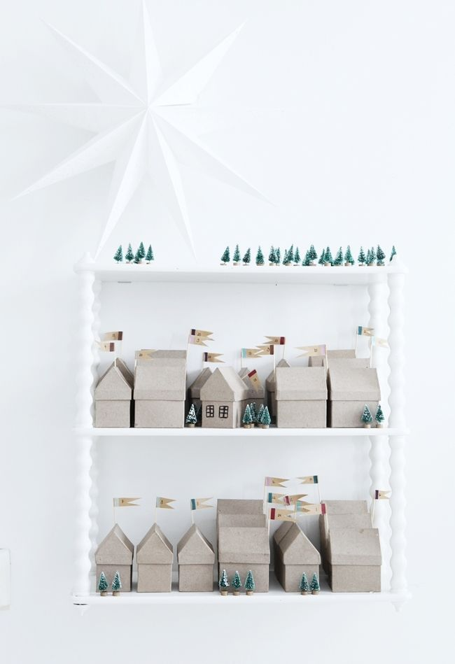 Mokkasin . Little House Advent calendar . { super cute idea for an advent calendar } .