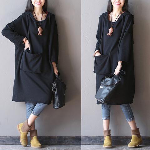 Hooded long  Sleeve blouse