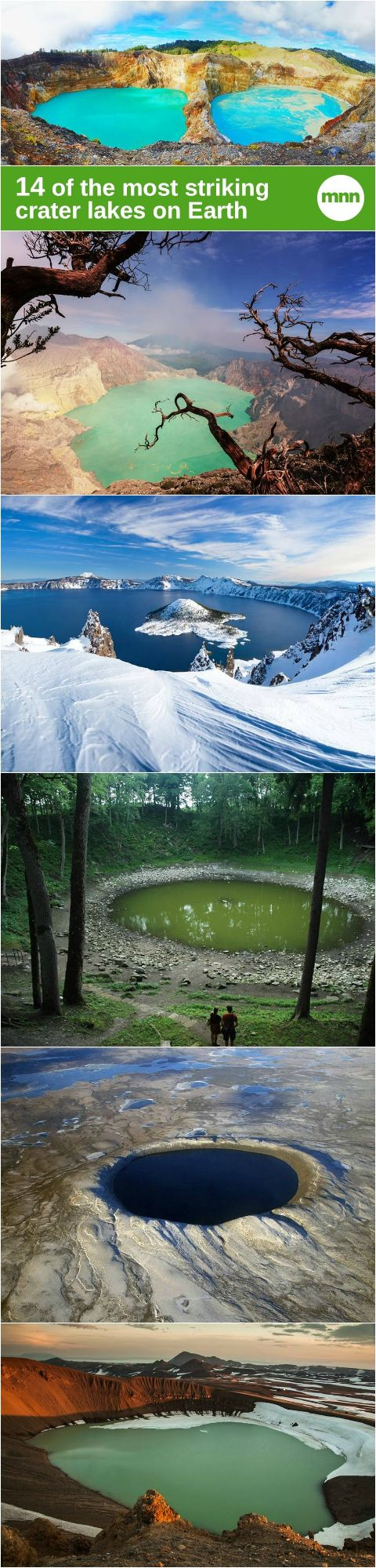 3 Indonesia's lake crater are mentioned in here and we have alot in here, while the biggest one and the biggest in the world is in my country not mentioned.