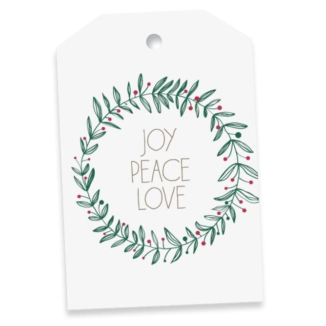 Garland gift tags (pack of 8) - Christmas in #HTFSTYLE