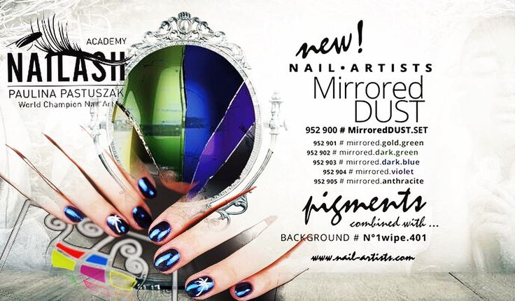 Mirrored dust by Nail Artists Polska ;))