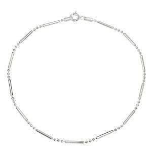 Bling Jewelry 925 Sterling Silver Bead Bar Ball Anklet Ankle Bracelet 9in Bling Jewelry. $9.99. 925 sterling silver. Weighs 1.9 grams. Spring ring clasp. Bar and ball chain. 1.5mm wide, 9 inch anklet length