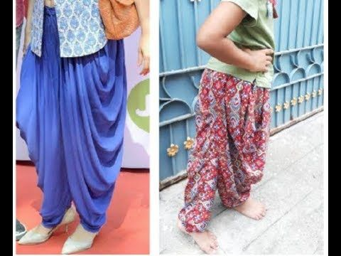 Stylish Dhoti / Harem / Clown Pant Cutting & Stitching in simple & Easy ...