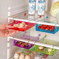 Multipurpose Fridge Storage Sliding Drawer Refrigerator Organizer Space Saver Shelf