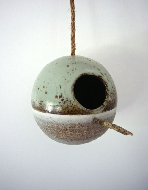 birdhouse | heather levine ceramics...I love the glazes