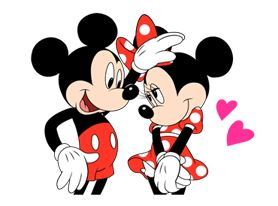 Mickey giving Minnie a nice gentle pat on her forehead.
