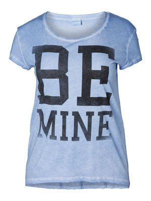Statement tee from JUNAROSE - perfect for a casual look. #junarose #plussize #fashion #tee #blue #pastel