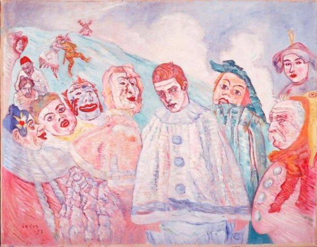 James Ensor, The Despair of Pierrot or Pierrot in Despair , 1910