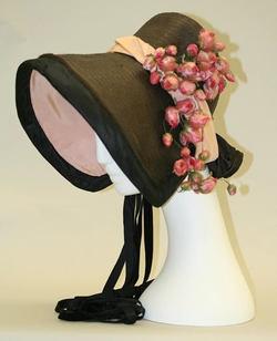 1850's Poke Bonnet, Silk, Met Mus.