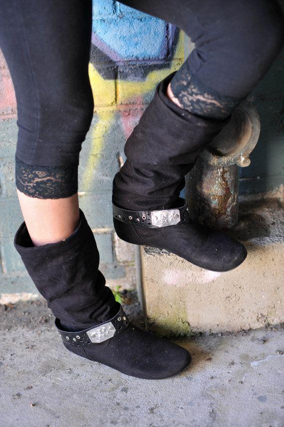 Black Boot Belts by Spunkhyde on Etsy