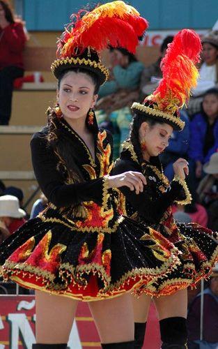 Bolivian Carnaval dancers