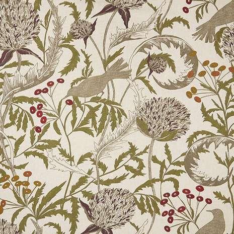 Brindley Mulberry Fabric   Dunelm
