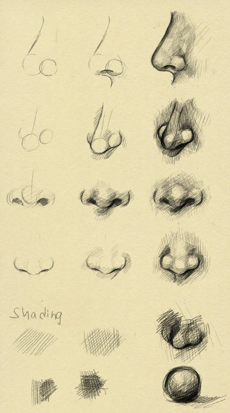 10 Amazing Nose Drawing Tutorials & Ideas