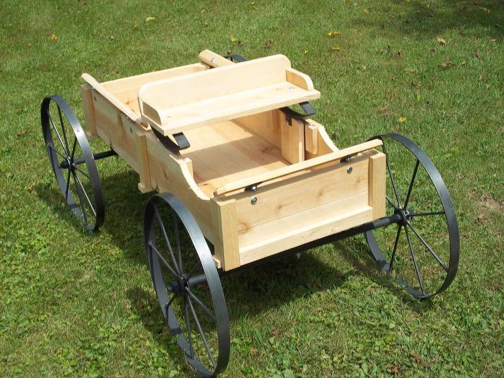 Small Cedar Buckboard With Springer Seat Garden Wagons